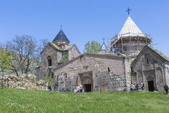 GOSHAVANK ARMENIEN - MAJ 02, 2016: Den Goshavank kloster var foun Arkivfoto