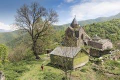 GOSHAVANK ARMENIEN - MAJ 02, 2016: Den Goshavank kloster var foun Royaltyfri Fotografi