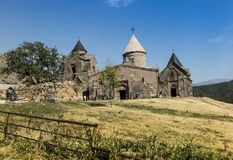 Goshavank Monastery was founded in 1188. It is located about 20 Stock Photo