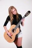 Gosia - eje de balancín femenino de la guitarra Fotografía de archivo
