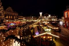 Goslar bożych narodzeń rynek Obrazy Royalty Free