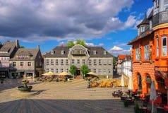 Goslar stadfyrkant Arkivfoton