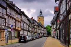 Goslar wide street Stock Images