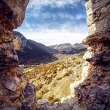 Gosol-Dorf in Spanien Katalonien lizenzfreie stockfotografie