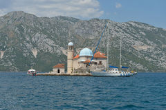 Gospa Od Skprjela和Sveti Djordje海岛蒙特内哥罗 免版税库存图片