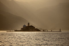 Gospa od Skrpjela, Our lady of the Rock, Perast, Kotor Bay, Montegro Royalty Free Stock Photography