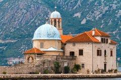 Gospa Od Skrpjela, Perast, Montenegro Stockbilder