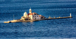 Gospa od Skrpjela, Perast, Montenegro. Small church in a Bay of Kotor Stock Photo