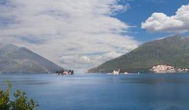 Gospa od Skrpjela and St. Nikola islands Montenegro Stock Image