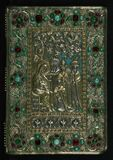 Gospel Book, Original treasure binding, Walters Manuscript W.540, Upper board outside Stock Image