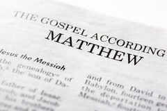 Gospel of Mathew Royalty Free Stock Image