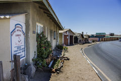 Gospel Mission Church. A Gospel church and Street view in Luderitz, Namibia Royalty Free Stock Images