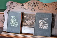Gospel Praise Book Hymnal`s on Organ Stock Images
