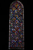 Gospel window of Chartres cathedral, France Stock Photography