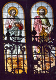 Gospel Writers Stained Glass San Francisco el Grande Madrid Spain Royalty Free Stock Photography