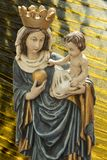 Virgin Mary, mother of Jesus. The gospels of Matthew and Luke in the New Testament and the Quran describe Mary as a virgin and Christians believe that she royalty free stock image