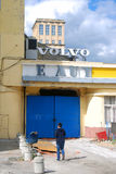 Gosplan garage. Architecture of Konstantin Melnikov in Moscow Stock Image