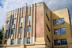 Gosplan garage. Architecture of Konstantin Melnikov in Moscow Stock Photos