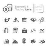 Gospodarka & handlarskie ikony royalty ilustracja