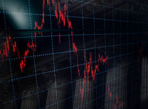 Gospodarka i finanse: Giełd Papierów Wartościowych grafika mapa i Silhoue Zdjęcia Stock