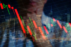 Gospodarka kryzys, mapa Zdjęcia Stock