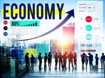 Gospodarka Rozlicza Pieniężnej inwestyci pieniądze pojęcie Fotografia Stock