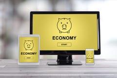 Gospodarki pojęcie na różnych przyrządach Obrazy Stock