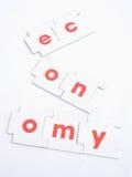 gospodarki recesja rozbijał Obraz Royalty Free