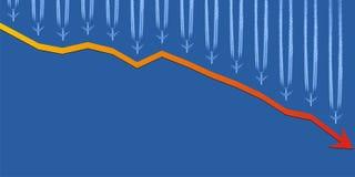 gospodarki spadać Obrazy Stock