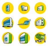 Gospodarstw domowych urządzeń ikony Obraz Stock