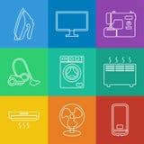 Gospodarstw domowych urządzeń ikony Obrazy Royalty Free