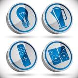 Gospodarstw domowych urządzeń ikony ustawiają 2 Fotografia Stock