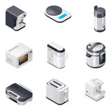Gospodarstw domowych urządzenia wyszczególniali isometric ikony ustawiać, część 2 Zdjęcia Royalty Free