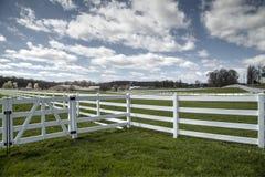 Gospodarstw rolnych ogrodzenia Obrazy Royalty Free