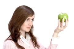 gospodarstwa applle kobieta Zdjęcia Royalty Free