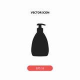 Gospodarstwa domowego cleaning butelki ikona Obraz Royalty Free