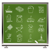 gospodarstwa domowego ikon przedmiotów narzędzia Fotografia Stock