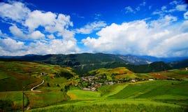 Gospodarstwa rolne na Qinghai Tybet plateau zdjęcia royalty free