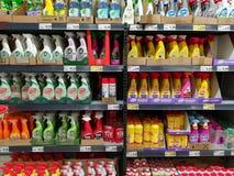 Gospodarstwo domowe ciekli detergenty zdjęcia stock