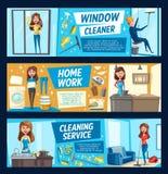 Gospodarstwo domowe obowiązek domowy, sprzątanie czyści usługa ilustracji
