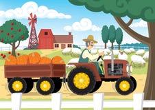 gospodarstwo rolne royalty ilustracja