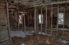 Gospodarstwo rolne domu Zaniechani gnicia zapominający w wiejskim Południowym Dakota zdjęcie stock
