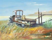 gospodarstwo rolne malująca ciężarówka Obrazy Stock