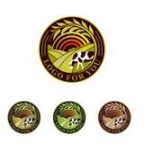 Gospodarstwo rolne odizolowywająca zielona logo kolekcja Wiejscy krajobrazowi logowie Środowiskowi znaki Set havest projekta embl Fotografia Royalty Free