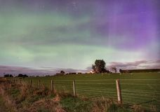 Gospodarstwo rolne pod południowym nocnym niebem zdjęcia royalty free