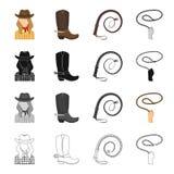 Gospodarstwo rolne, rywalizacje, wakacje i inna sieci ikona w kreskówce, projektujemy Zwierzęta, paśnik, rdeo, ikony w ustalonej  ilustracji