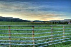 Gospodarstwo rolne w Skalistych górach Zdjęcia Royalty Free
