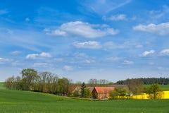 Gospodarstwo rolne w Zachodnim Pomerania, Niemcy Obrazy Stock