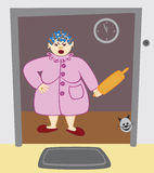 gospodyni domowa dokuczająca wyraźnie ilustracja wektor