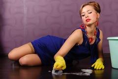 gospodyni domowej up wałkowy seksowny zdjęcia stock